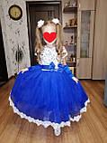Детское нарядное белое платье Снежинка Сильвия-брошка 98-116, фото 5
