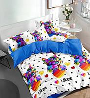 Подростковое постельное полуторное белье Likee, ранфорс, 100% хлопок, Тет-а-тет, фото 1