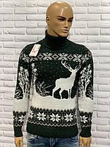 Мужской свитер-гольф с оленями  М-2XL большой ассортимент ,разные цвета и орнаменты, фото 2