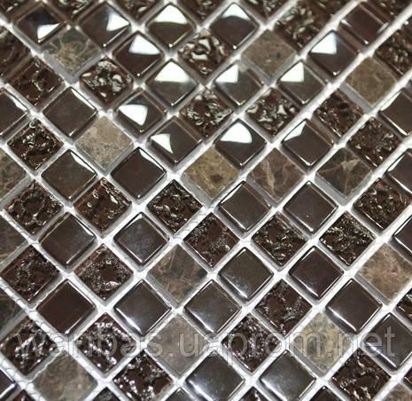 Китайская  Стеклянная мозаика с мрамором DAF 12