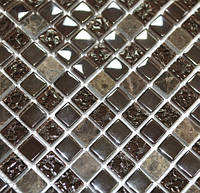 Китайская  Стеклянная мозаика с мрамором DAF 12, фото 1