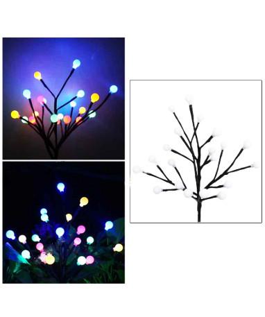 Новогоднее уличное дерево Лампочки, 30 см, 24 шт, мульти