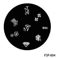 Форма для штампа Lady Victory LDV В04/FSP-004 /544-0