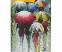 """Алмазная мозаика """"Дождливая пора"""" 30*40 см, ТМ Идейка (АМ1001)"""