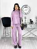Стильный утепленный женский костюм из плотной ангоры 50-610, фото 2