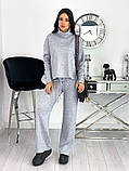 Стильный утепленный женский костюм из плотной ангоры 50-610, фото 3