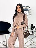 Стильный утепленный женский костюм из плотной ангоры 50-610, фото 4