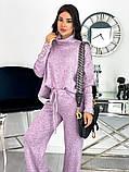 Стильный утепленный женский костюм из плотной ангоры 50-610, фото 5