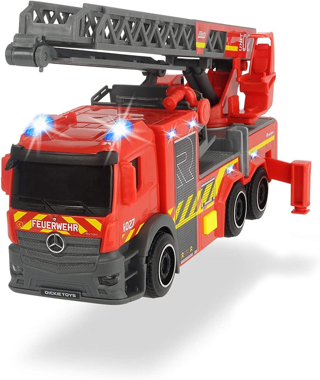 Пожарная машина Мерседес с телескопической лестницей, 23 см, 3714011