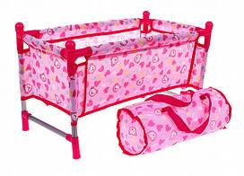 "Кроватка манеж для кукол Baby Born и аналогов, с одеялом, подушкой, в сумочке ""Hk"" CS7856"