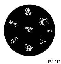 Форма для штампа Lady Victory LDV В12/FSP-012 /44-0