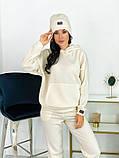 Теплый женский спортивный костюм с шапкой 50-613, фото 5