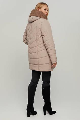 Женская зимняя теплая куртка с мехом больших размеров 54-64, фото 2
