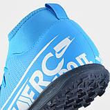 Детские сороконожки Nike Mercurial Superfly Club TF JR, фото 6