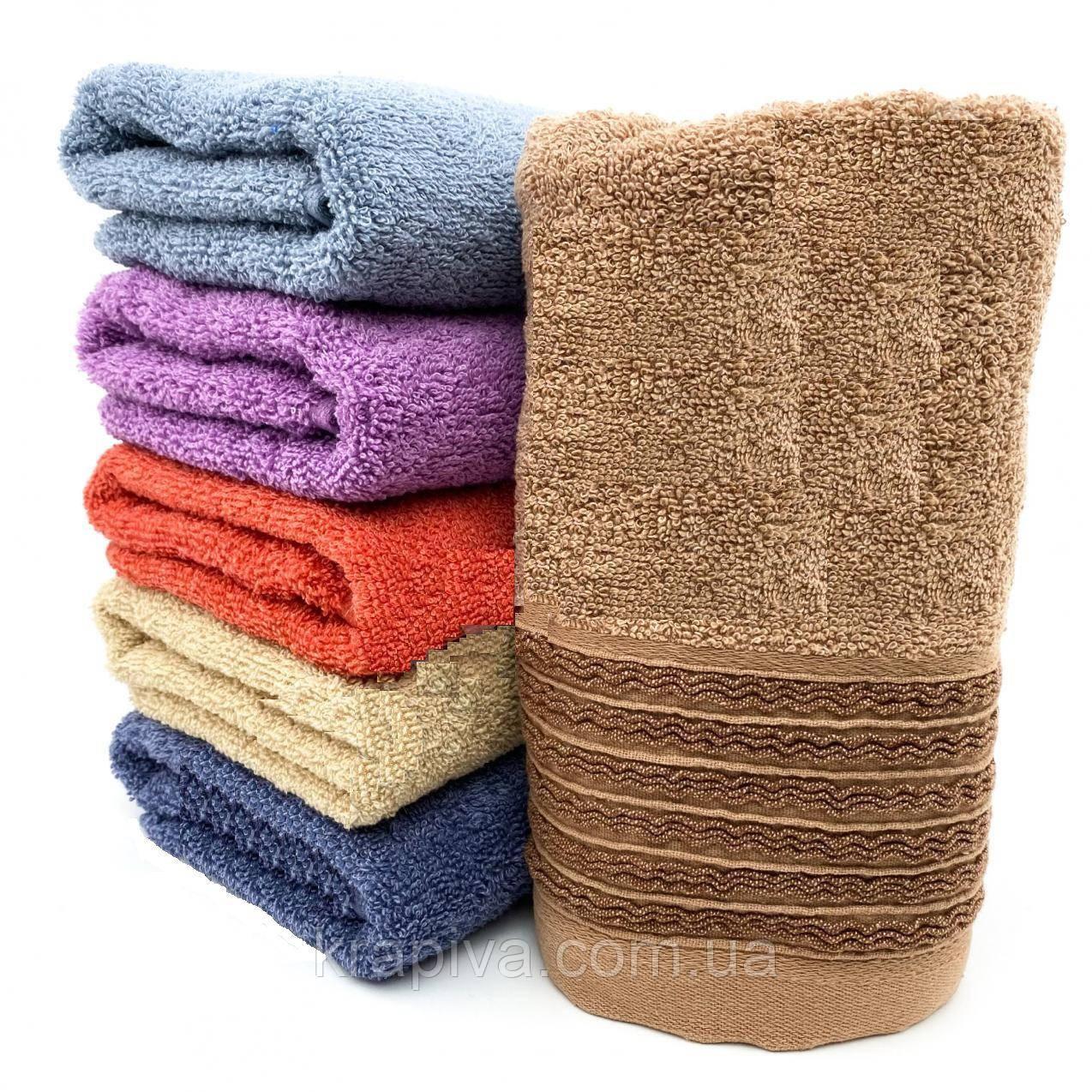 Полотенце рушник 100*50см махра 100% хлопок, для лица