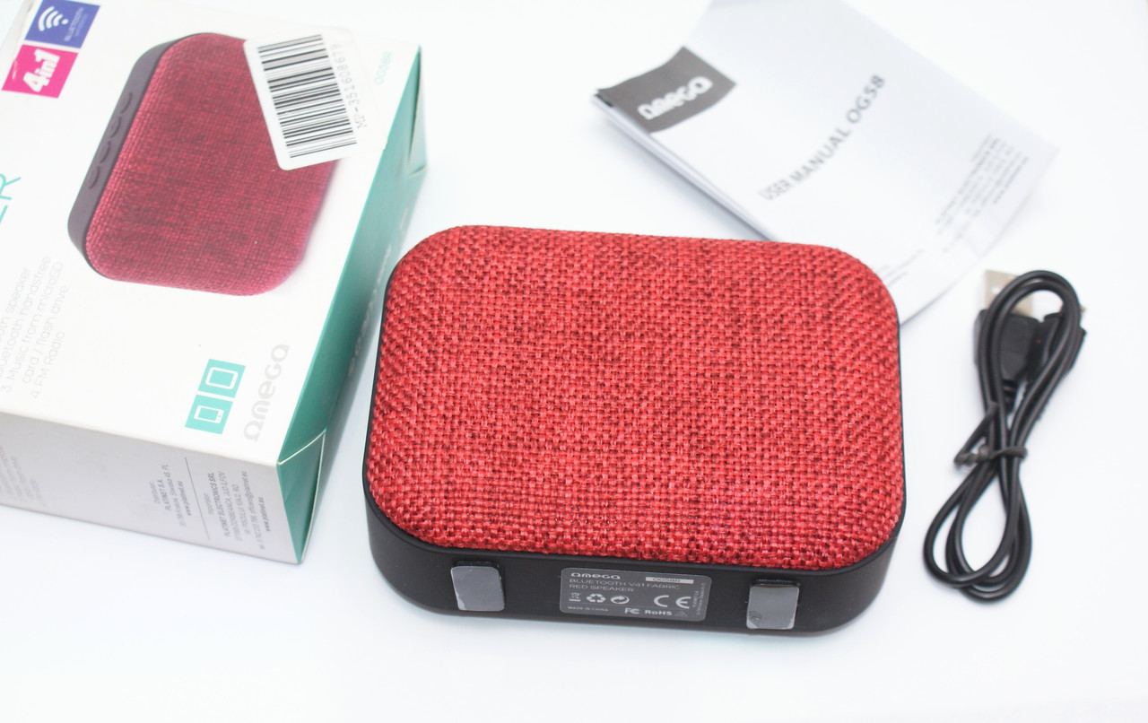 Omega OG58R Bluetooth Fabric Red ,Акційна ціна