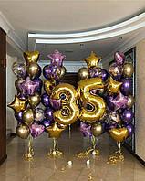 """Композиция с шаров """"Вавилонские башни"""" набор 70 шаров"""