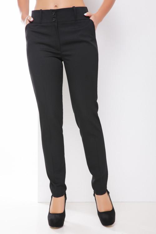 Классические однотонные брюки черные