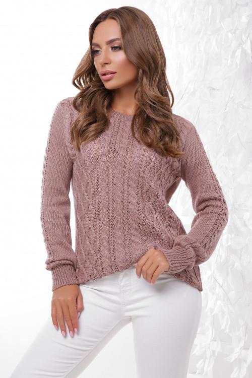 Стильный женский свитер фрез 44-50