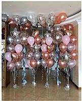 """Композиция с шаров """"Розовая зона"""" набор 67 шаров"""