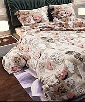 ✅ Двуспальный комплект постельного белья (Ранфорс) Украина Heart