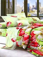 ✅ Двуспальный Евро комплект постельного белья (Поликоттон) Украина