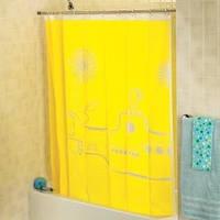 Шторка для душа ванной Желтая подводная лодка субмарина Yellow submarine дизайнерская шторка KIKKERLAND, фото 1