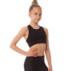 Майка-топ спортивная из хлопковой ткани детская SP-Planeta DR-1247 (34, рост 134, Черный), фото 2