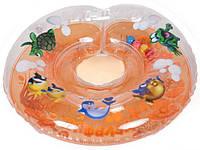 Круг для купания младенцев Delfin (Польща).Оранжевый+Подарок!