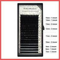 Ресницы для наращивания черные Nagaraku B 0.07 Mix 7-15 mm