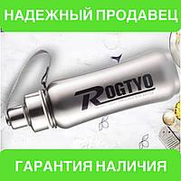 Фляга, бутылка для воды, термос из нержавеющей стали на велосипед Rogtyo (серебристая)