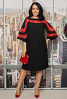 Сукня жіноча полубатальное з мереживом, розміри 48-62 (3ол)