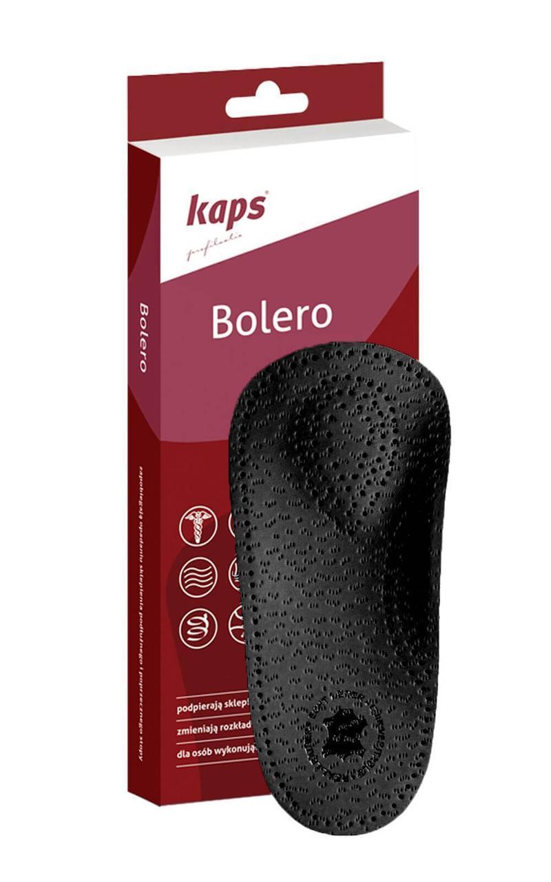 Kaps Bolero Black - Ортопедические полустельки черные 36