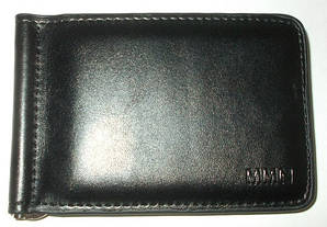 Зажим для денег с монетницей MMN 915 черный