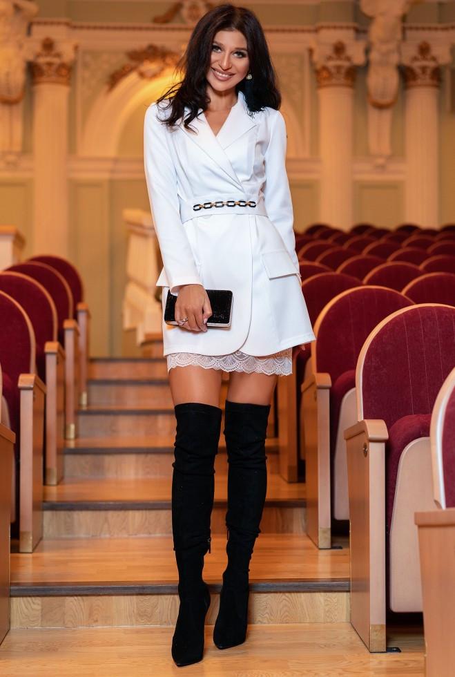 Платье Зиона белый s