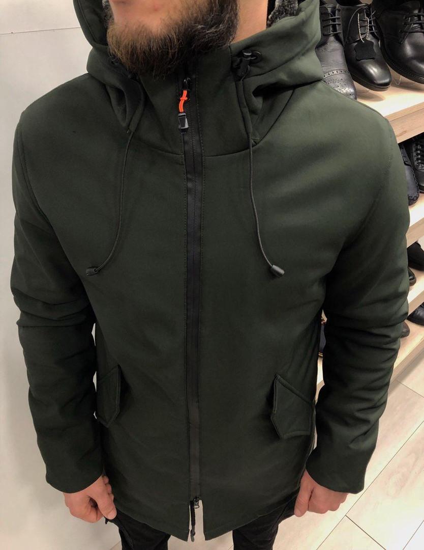 Парка мужская TM хаки зимняя. Куртка зеленая удлиненная 52-54