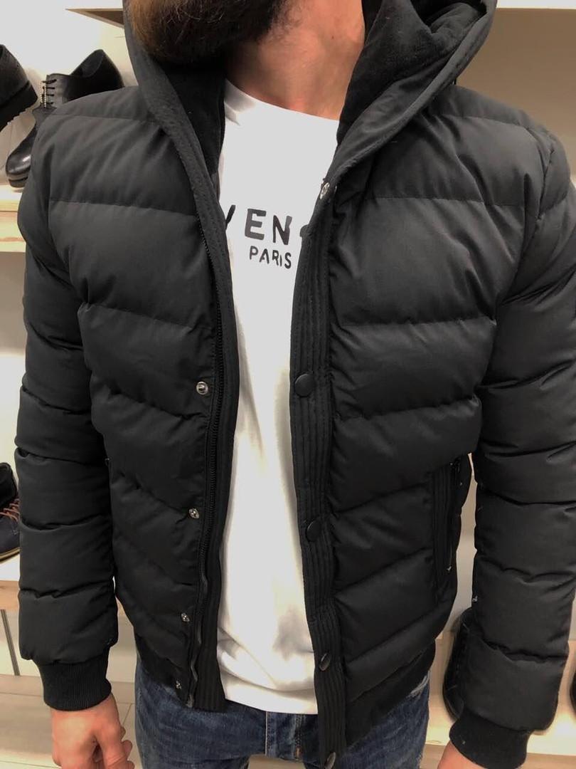 Куртка чоловіча зимова чорна курточка тепла