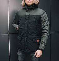 Парка мужская зимняя Winter Аляска 033. Куртка удлиненная теплая
