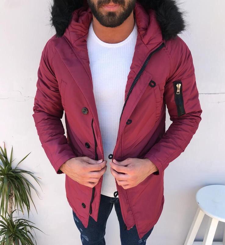Парку чоловіча TORNADO бордова зимова. Толька (XL і S) Куртка подовжена. Курточка тепла