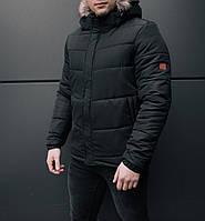 Стильная мужская куртка Winner черная зимняя. Куртка удлиненная. Теплая курточка, фото 1