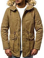 Парка мужская Comanda бежевая зимняя. Куртка удлиненная теплая песочная