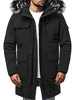 Парка мужская FROST зимняя. Куртка удлиненная теплая