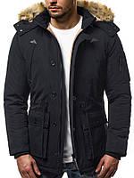 Парка мужская GRAND черная зимняя. Куртка удлиненная теплая. Только XL XXL, фото 1