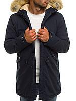 Парка мужская HUNTER зимняя синяя.(Только L XL XXL) Куртка удлиненная теплая, фото 1