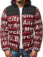 Стильная мужская куртка Superciti зимняя. Бордовая курточка, фото 1