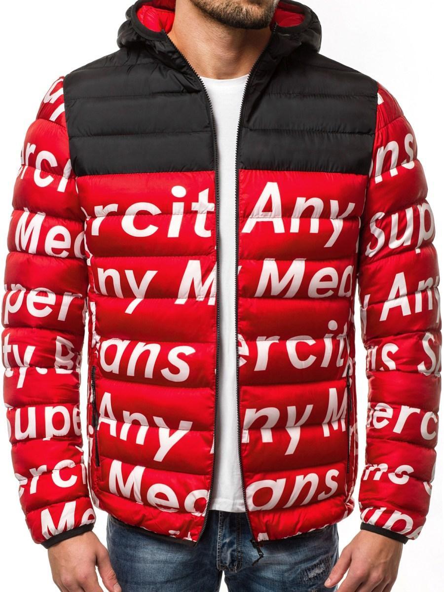 Стильная мужская куртка Superciti красная. Курточка зимняя