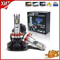 Автомобильные светодиодные LED лампы H7 6000Lm лед Автолампы X3 H7