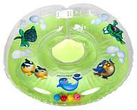 Акция! Круг для купания младенцев Delfin (Польща).Зелёный+Подарок!