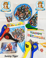 """Праздничный набор """"Мстители"""" для детского Дня рождения: посуда и украшения №2"""