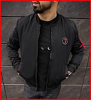 Куртка бомбер Emporoio Armani мужская весенняя . Стильный мужской бомбер черный